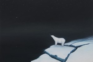 Polar bear and space station